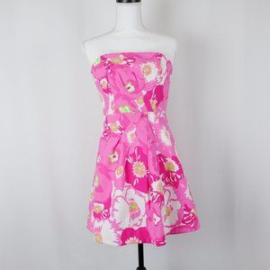 Lilly Pulitzer Hotty Pink Cherry Begonias Dress